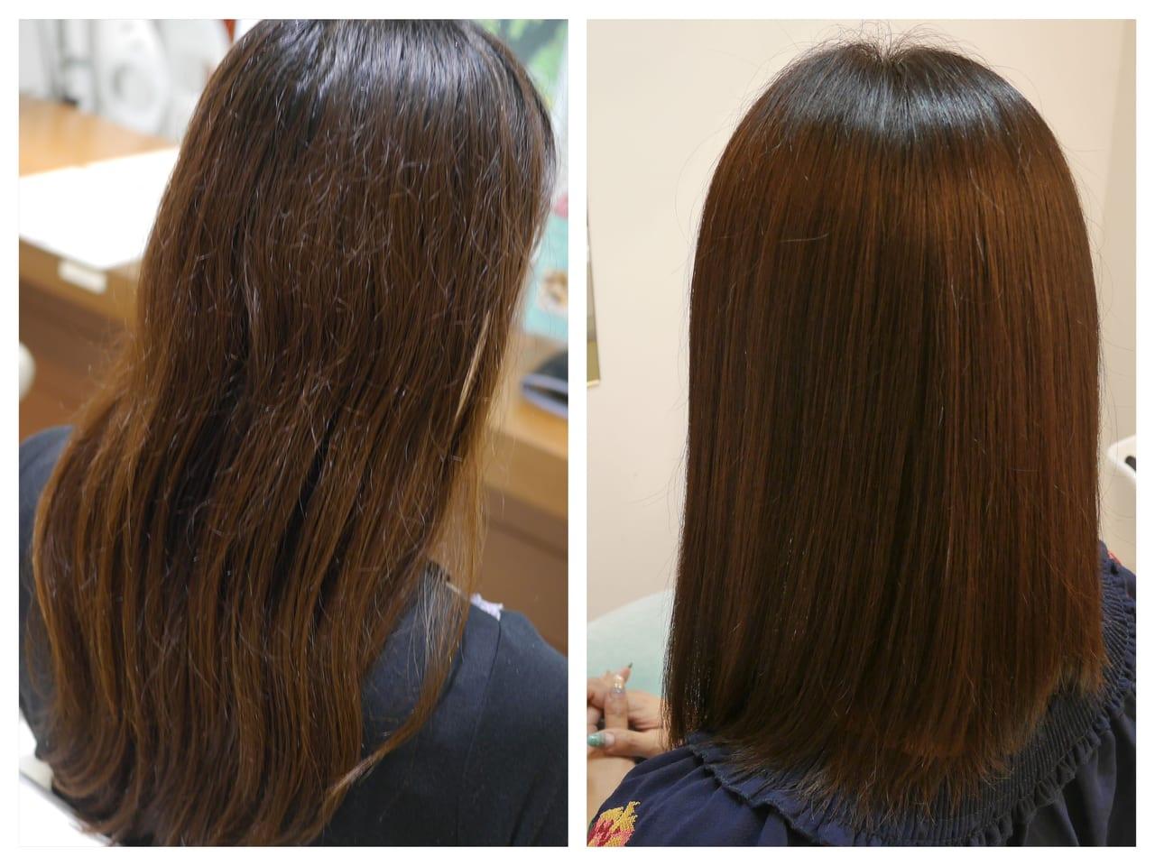 RESALON 髪質改善 効果 ビフォアアフター