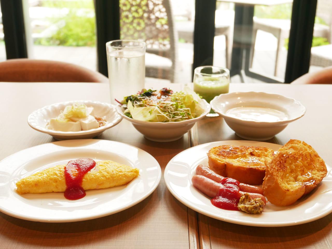 水上ホテル聚楽 朝食ビュッフェ