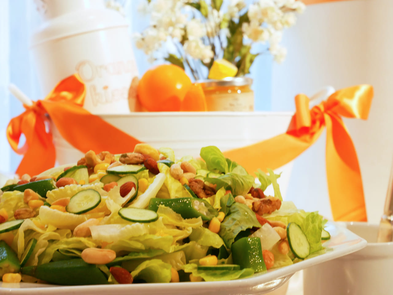 ストリングス表参道 夏野菜のシーザーサラダ