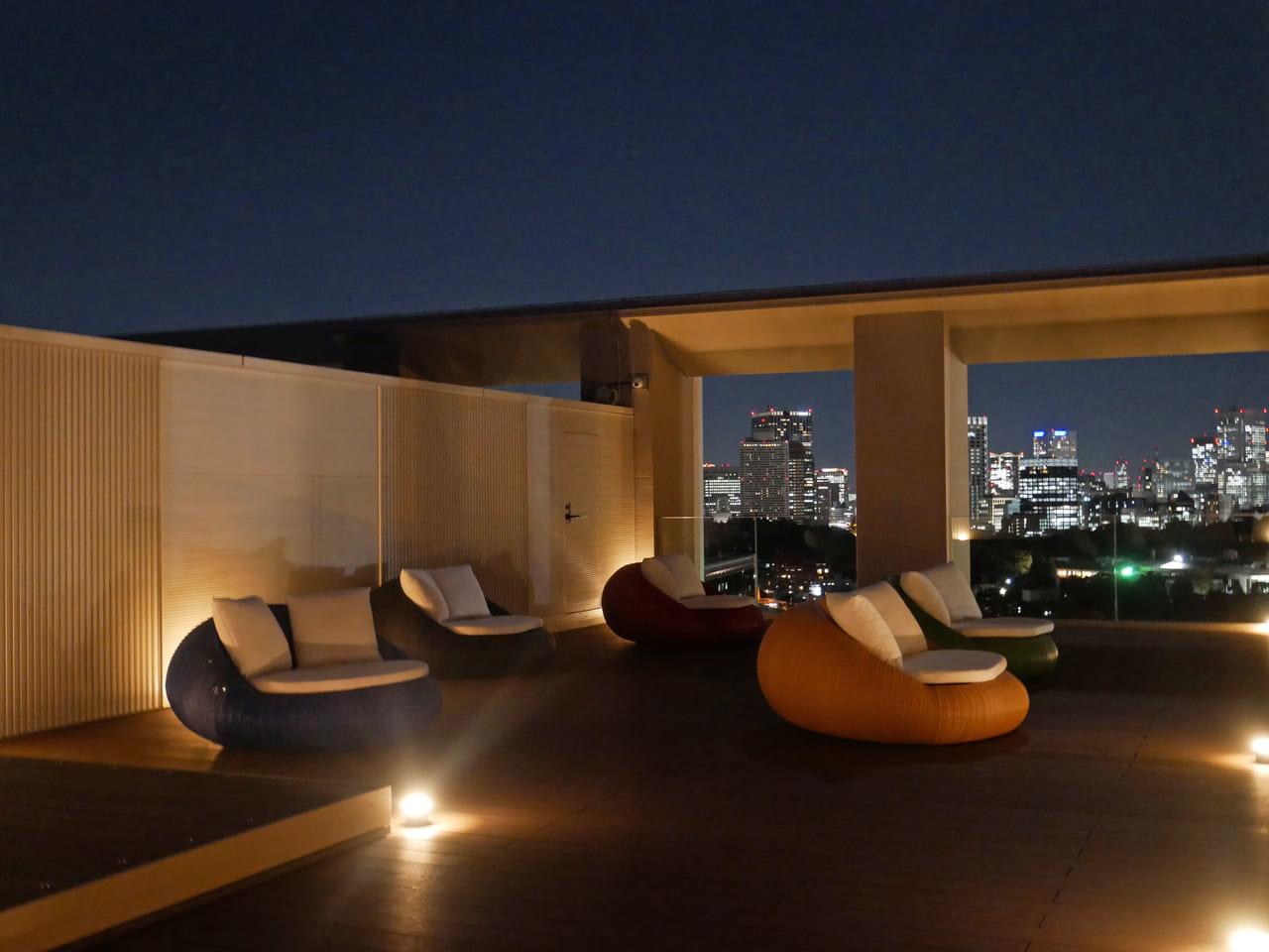 三井ガーデンホテル神宮外苑の杜プレミア ルーフトップテラス 夜景