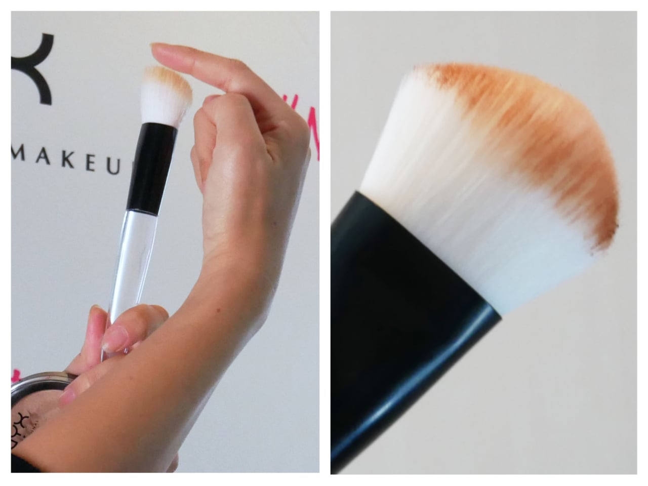 NYX Professional Makeup ハイグラス イルミネイティング パウダー ブラシ