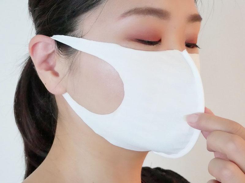 立体マスクで熱がこもらない